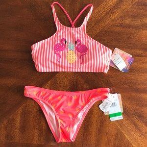 Coco Rave tropi glow flamingo pineapple bikini